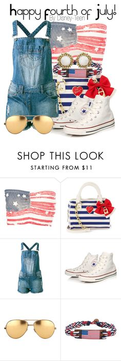 """""""Happy Fourth of July!"""" by disney-teen ❤ liked on Polyvore featuring Sally&Circle, Converse, Linda Farrow, Kendra Scott, holiday, fourthofjuly, independenceday and fourthofjulyfashion"""