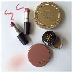 Product review #plumful #fanfare #tarte #exposed #blush #anastasia #dipbrowpomade #toofaced #mac #lipstick