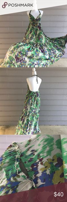 VS Cotton maxi floral sundress Hi Y'all! All items in my closet are sold as is, any flaws that I find while I do my inspection will be displayed in the photographs or notes below. Measurements are available on request, and I'm happy to answer any questions you might have, or post additional photos. If you're concerned about fit or anything else please, please, please ask before purchasing! Items come from a smoke free home with one big fur baby, I launder all clothing before posting unless…
