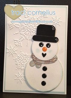 My Punch Art Snowmen by Independent Stampin Up Demo Traci Cornelius www.getcreativewithtraci.co.uk