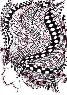 Zentangle Dreaming ATC 01 by whisper_elmwood, via Flickr
