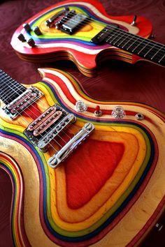 N/A Bass Guitar Lessons, Guitar Painting, Guitar Building, Beautiful Guitars, Guitar Design, Custom Guitars, Mandolin, Cool Guitar, Playing Guitar