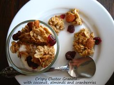 Home Cooking In Montana: Homemade Cluster Granola... with coconut, almonds and cranberries.