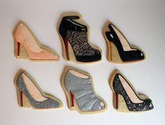 Sugar Mama Cookies: Christian Louboutin Shoe Cookies using SugarVeil Lace