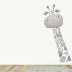 Wall Decals Toddler, Nursery Decals, Giraffe Fabric, Giraffe Decor, Room Wall Painting, Kids Room Paint, Baby Room Design, Baby Room Decor, Ideas Dormitorios