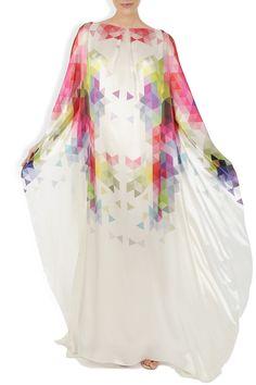 Rochie caftan din matase naturala cu print digital Bell Sleeves, Bell Sleeve Top, Caftans, Tops, Women, Fashion, Kaftans, Moda, Fashion Styles