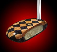 Created from 40 separate pieces of wood. Lee Thomas, Golf Art, Golf Putters, Golf Fashion, Golf Stuff, Pattern, Man Cave, Separate, Addiction