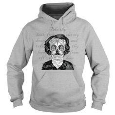 Edgar Allen Poe Sugar Skull  Nevermore