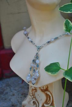Neo Victorian cracked glass Necklace by PoisonGarden on Etsy, $30.00