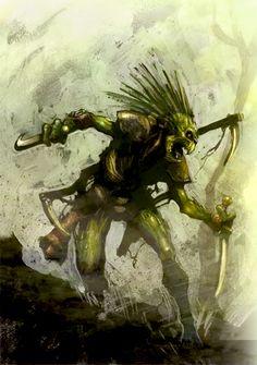 Tau Empire. Kroot Warrior Colored by ~MajesticChicken on deviantART