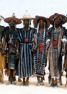 Wodaabe men, Niger
