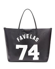 Antigona Favelas 74 Large Shopper Bag, Black/White by Givenchy at Neiman Marcus.