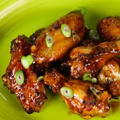 """""""Blow Your Mind"""" Baked Chicken Wings Recipe: Garnish with scallions to complete this amazing game day snack The Chew Recipes, Great Recipes, Cooking Recipes, Favorite Recipes, Healthy Recipes, Snacks Recipes, Baked Chicken Wings, Chicken Wing Recipes, Chicken Breasts"""