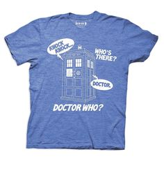 Funny Doctor Who Knock Knock Who's There T-shirt belongs in every Whovian's closet!