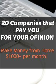 Make money from home fast with these companies that pay you for completing paid surveys online. Fastest way to work from home and get started making money online!