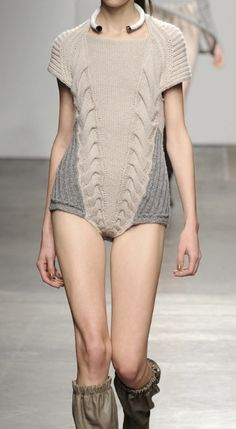 Contemporary Knitwear - chic knitted bodysuit; runway fashion details // VPL Fall 2012