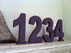 Wedding Table Numbers - Handpainted & Freestanding - Set of 11 - 28cm dunno ????