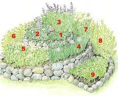 spiral herb garden plan
