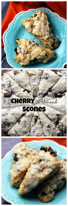 Make your mornings brighter with these soft, buttery lightly sweet cherry almond scones.