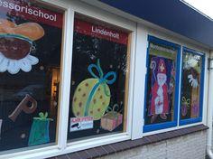 Raamschildering Sinterklaas