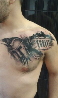 300 Spartan Tattoo Designs and Ideas on Chest