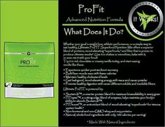 It Works! Profit protein powder. follow the link for details >> http://wrapsnapps.myitworks.com/shop/product/316/