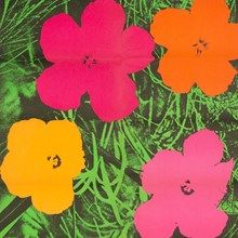 Andy Warhol, Offset Lithograph, 'Flowers', USA, 1964. Whenever I want to smile, I look at Andy Warhol's art...the Flowers are just heavenly!