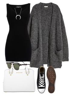 """#139"" by mintgreenb on Polyvore featuring Michael Kors, H&M, Dsquared2, Converse and Ray-Ban"