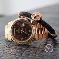 Rolex Day-Date II in Rose Gold $27500like new condition