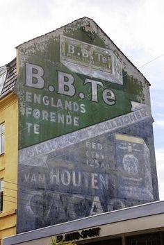 B.B.Te / Van Houten Cacao ghost signs, Copenhagen