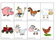 Let's Talk Speech Therapy: 300 Freebie Directions Farm Speech Therapy Activities, Language Activities, Preschool Activities, Preschool Farm, Speech Language Pathology, Speech And Language, Listening And Following Directions, Receptive Language, Thematic Units