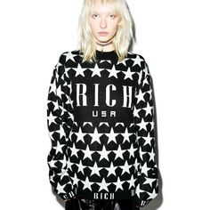 Joyrich Star Highneck Knit Crew ($149) ❤ liked on Polyvore