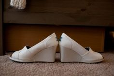 Tom Tom Ivory Women's Wedges Wedding Shoes $55