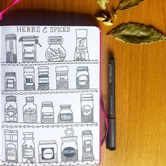 Really enjoyed drawing spice jars this morning for #cbdrawaday by concrete_moomin