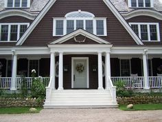 Shingle Style Front Porch by Alisberg Parker