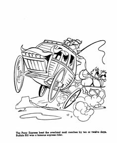 pony express coloring pages free - photo#16