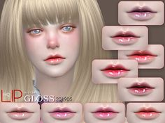 Lipstick, 18 swatches, hope you like, thank you. Found in TSR Category 'Sims 4 Female Lipstick' The Sims 4 Download, Sims Community, Sims Resource, Sims 4 Mods, Electronic Art, Sims Cc, Makeup Lipstick, Club, Pretty