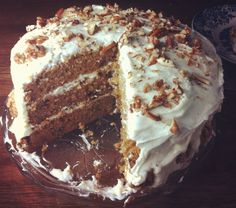 The ultimate carrot cake.  My go to recipe that has never let me down! Love it