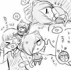Kaneki and Cat Touka