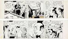 John Prentice Rip Kirby Daily Comic Strip Original Art dated and (King Features Syndicate, - Available at Sunday Internet Comics Auction. Comic Strips, The Fosters, Comic Art, Original Art, Auction, The Originals, Fictional Characters, Cartoons, Editorial
