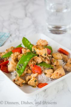 Spicy Basil Chicken - Dinners, Dishes and Desserts