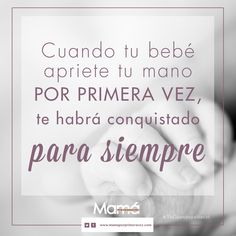 Cuando tu bebé apriete tu mano por primera vez, te habrá conquistado para siempre. Comparte si estás de acuerdo...