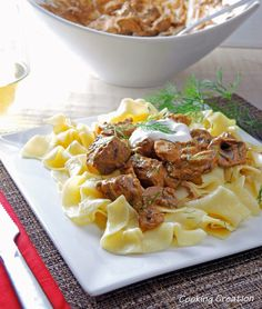Cooking Creation: Beef Stroganoff