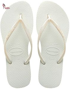 Havaianas Tongs Femme Slim White-EU :43/44-BR:41/42 - Chaussures havaianas (*Partner-Link)