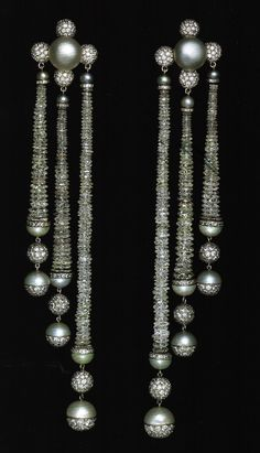 Pearl and diamond earrings by JAR... just wow