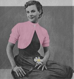 The Vintage Pattern Files: 1940s Free Knitting Pattern - Dolman Bolero