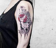 Doe tattoo by Koit Tattoo