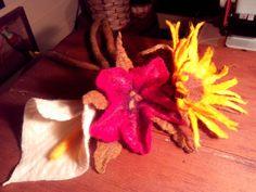 Flores fieltro amasado
