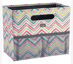 Thirty One Fold 'N File (item 3890) will help you get your home office or space organized in style. Available in 4 prints. Only $25. 2 exterior mesh pockets and collapses for easy storage. Visit my site to see this and other products at www.mythirtyone.com/vkhernan