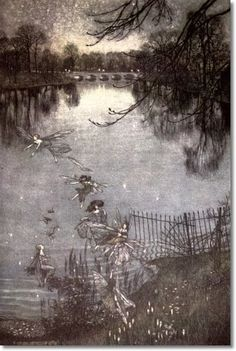 "Arthur Rackham's ""Peter Pan in Kensington Gardens"" (1906): ""The leading decorative illustrator of the Edwardian period"" – Arthur Rackham"
